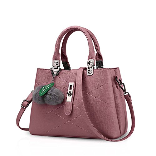NICOLE & DORIS 2020 Neue Welle Paket Kuriertasche Damen weiblichen Beutel Handtaschen für Frauen Handtasche Rosa Morado