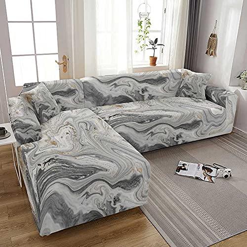 WXQY Sala de Estar Figura de mármol Todo Incluido Funda de sofá elástica Funda de sillón decoración del hogar Funda de sofá A5 1 plazas