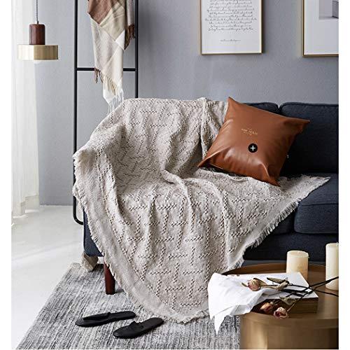 Kuscheldecke Couch Tagesdecke Warme Decke, TV-Decke Große Weiche Baumwolle Sofadecke Sessel überwurf Decke Bett Stuhl Bezug mit Zierstich Einfassung für Lesen