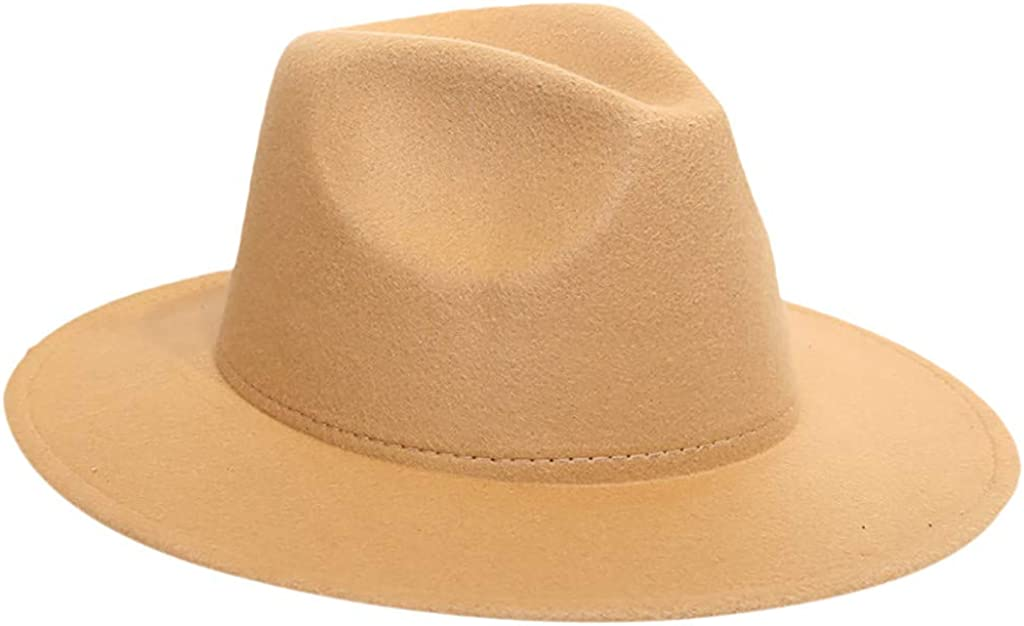 Toimothcn Womens Sun Hats Foldable Wide Brim Felt Bowler Fedora Wool Hat Girls Panama Hats