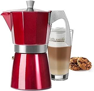 3 tazas WeCook 30103 Cafetera Italiana Aluminio Inducci/ón Libre de BPA Vitrocer/ámica y Fog/ón negro