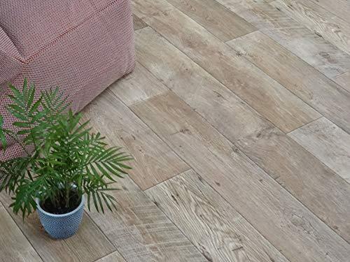 PVC Bodenbelag im robusten Wohn-Stil (9,95€/m²), Zuschnitt (4m breit, 6m lang)