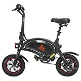 Bicis Eléctricas Plegable, Bicicletas con, Bateria de Litio 36V 10Ah, 12 Pulgadas Bicicleta de Paseo Plegable con Pedales para Adulto Unisex, App Control-Kugoo B1 Pro