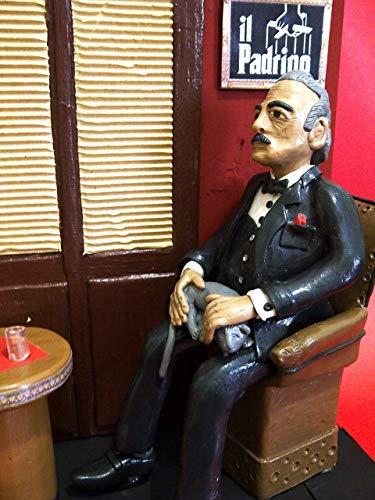 Action Figures - Don Vito Corleone - Der Pate - Der Pate mit Raumszene