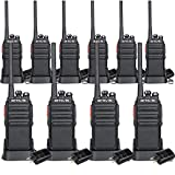 Retevis H-777S Walkie Talkies Long Range,Rechargeable Two Way Radios,VOX Handfree Scan, 2 Way Radios,for Security Church Business Jobsite(Black,10pack)
