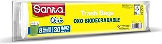 Sanita Club Trash Bags , 8 Gallons , 30 Pieces, PR23BO0801R11