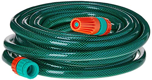 Mangueira Flex Tramontina Com Engates Rosqueados E Esguicho Em Pvc Verde 10 M
