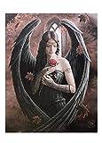 LLYMGX Fantastisches Design Gothic Rose Angel/Rose Fairy Leinwand Bild auf Rahmen Wandtafel 30 * 40cm Rahmenlos