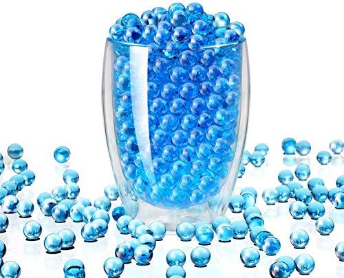 Miuezuth Wasserperlen für Pflanzen, 50000 STK Aquaperlen Orbeez Aqualinos, Gel-Perlen Wassergel-Kugeln Dekoration für Hochzeit Party, Gelperlen Wasserkugeln für Blumen Deko Vasen (Blau)