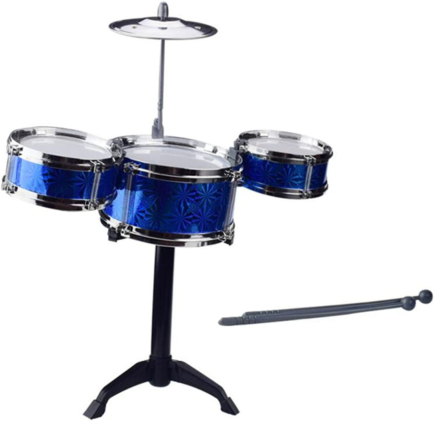 Kids Drum Set Percussion Musical Instruments Educational Toys Baby Toys bluee