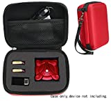Protective Case for Kidcia, EACHINE E55, FQ777 FQ17W, Hobbylane Altitude Hold Folding Drone, RC Quadcopter Drone with FPV Camera and Live Video, DIY Foam Blocks (Red with Black Zip)