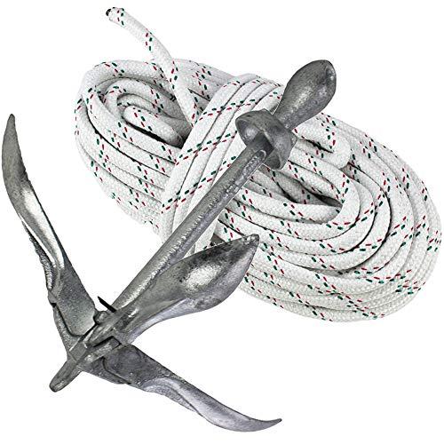 Faltanker Klappanker verzinkt 3,2kg mit 30 m Ankerleine 8 mm