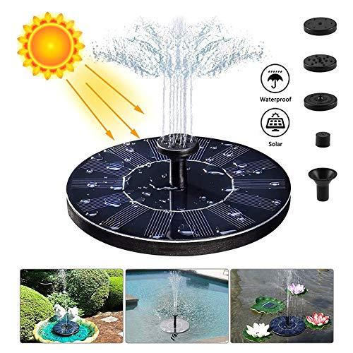 Solar fontein Floating Zonnepaneel Waterpomp IPX8 Waterdicht met 4 verschillende spuitmondkoppen voor tuin decoratie Kleine Vijver Pool