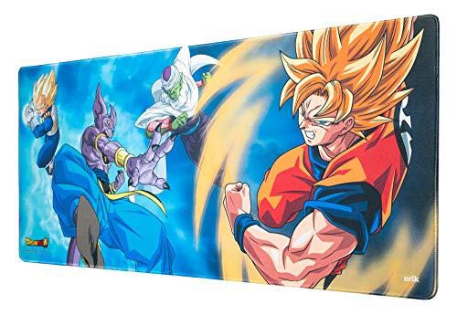 Erik® - Tapis de Souris Gaming XL Dragon Ball Super - Sous-Main Antidérapant - 80 x 35 cm