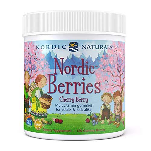 Nordic Naturals Nordic Berries Multivitamin, Cherry Berry, 120 Capsules