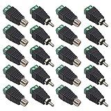 FULARR 20Pcs Profesional RCA Macho Hembra Conector Kit, 10 Pares RCA Macho Enchufe & Hembra Socket a AV Tornillo Terminal Bloque Audio Video Conector Adaptador, para CCTV Seguridad Cámara Sistema