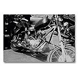 Premium Textil-Leinwand 90 x 60 cm Quer-Format Touren Chopper - AWO Umbau in der DDR | Wandbild, HD-Bild auf Keilrahmen, Fertigbild auf hochwertigem Vlies,...