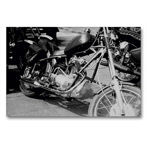 Premium Textil-Leinwand 90 x 60 cm Quer-Format Touren Chopper - AWO Umbau in der DDR | Wandbild, HD-Bild auf Keilrahmen, Fertigbild auf hochwertigem Vlies, Leinwanddruck von Dirk Ehrentraut
