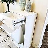 Tilt Out Trash Bin Cabinet by Northwood Calliger, Wooden Trash Can Bin for Kitchen or Tilt Out...