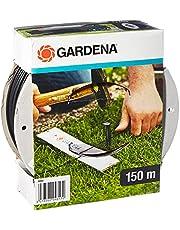 GARDENA Grensdraad (150 m): Grensdraad voor Gardena Robotmaaier, weerbestendig, geschikt voor gebruik buiten, als geleidekabel voor alle Gardena robotmaaiers, zwartgrijs (4088-60)