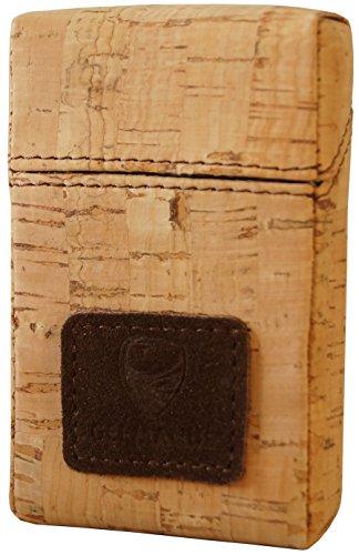 GERMANUS Kork - Made in EU - Leder Zigarettenschachtel aus Kork, Zigarettenbox, Packungsetui, Zigarettenetui, Überzug, Zigarettenhülle