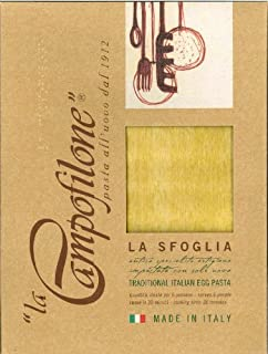 Lasagna Traditional Italian Egg Pasta (La Sfoglia) (Pack of 4)