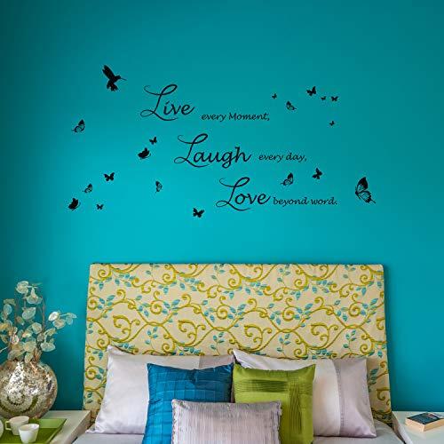 Walplus Wall Art Zitat Live Laugh Love Aufkleber Wandbild Handschrift Innen