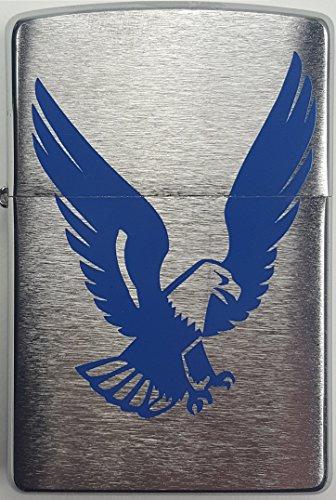 Zippo Benzinfeuerzeug aus dem Hause Zippo # Sturmfeuerzeug mit einem blauen Adler Adler