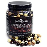 Chocolate Covered Espresso Bean Blend Jar | Made with All-Natural Ingredients | 3-Pound Bulk Jar | Features White, Milk, and Dark Chocolate | By Dilettante Chocolates