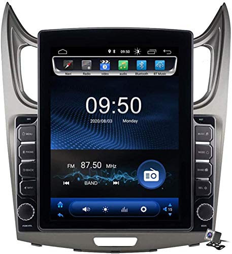 Miwaimao Android 9.1 Car Entertainment Radio Multimedia para Chevrolet Sail 2010-2013 con Pantalla Vertical 9.7 Pulgadas, Compatible con DSP FM Am/Navegación GPS/Llamadas Manos Libres BT