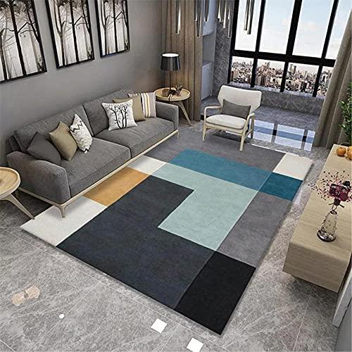 IRCATH Patrón geométrico de Costura Multicolor HD Impresión en HD Dormitorio Corredor Corredor Sala de Estar Dormitorio Decoración de la casa Alfombra-50x80cm Las alfombras Son aptas para Suelos radi