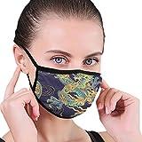 QsuNa Mundmaske Cool Dragon Health Mundschutz Wiederverwendbar Outdoor Masken