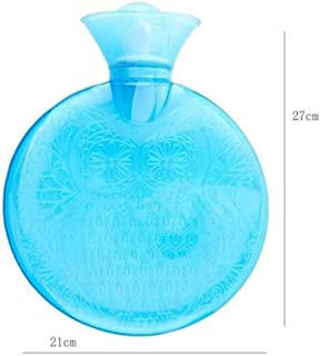 Asdfnfa Large PVC Hot Water Bottle Hot Water Bag with Super Soft Heat Or Cold Therapy 1.2L (Color : Blue, Size : One Size)