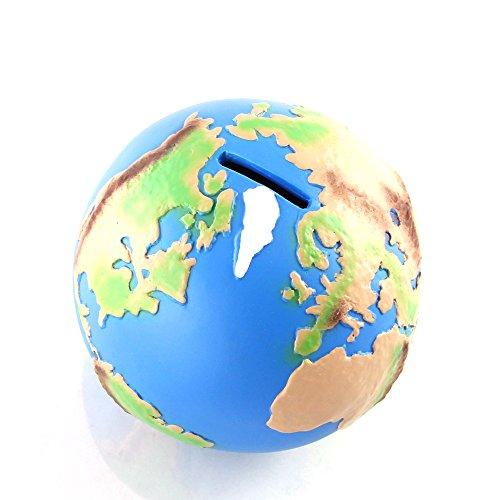 HMF 48900 Hucha en forma de globo mundial de 12 cm de diámetro, hucha, de colores