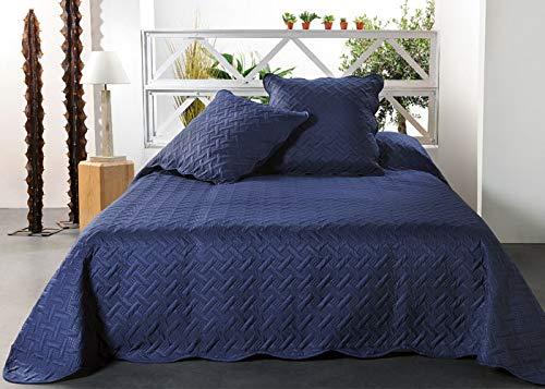 Linder Jeté de lit, 100Pourcentpolyester, Bleu, 230x250