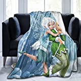 Tinkerbell and Fairy Throw Blankets Ultra-Soft Warm Cozy Plush Blanket Flannelt Cartoon ,for All Seasons for Couch Bed Sofa 50'X40'