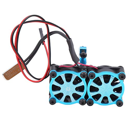 VGEBY Radiatore del Motore Regolabile RC, Ventola di Raffreddamento del Motore Durevole Ricambi di aggiornamento del radiatore del Motore Regolabile Adatti per TRX4 1/10 RC Car(Blu)