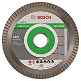 Bosch Professional - Disco de corte de diamante Best for Ceramic Extra-Clean Turbo, 125 x 22.23 x 1.4 x 7 mm