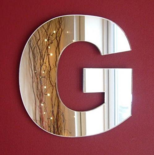 Servewell - Specchio da parete con lettera G, 30 cm
