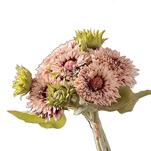 PRIDE S Gefälschte Blume Wohnaccessoires Garten Wohnzimmer Simulation Sunflower Gefälschte Blume Simulation Blume (Color : A, Size : 5 Packs)