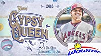2018 Topps Gypsy Queen Baseball Factory Sealed HOBBY Box with TWO(2) AUTOGRAPHS & Box Topper! Look for Autograph, Memorabilia, Shortprints, Mini Cards & Shohei Ohtani Rookie Cards & Autograph's!