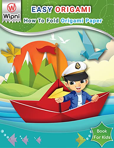 Easy Origami Book For Kids: How To Fold Origami Paper - Beginners Step-by-Step you can make Flower, Animals, Bird, Ninja Star, and more! (Craft activities for kids) (English Edition)