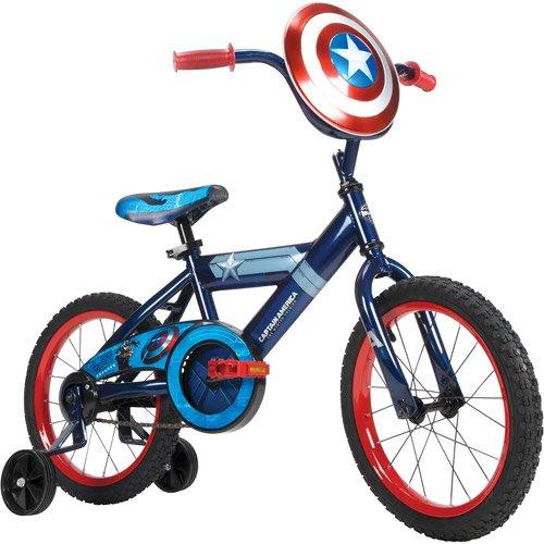 "16"" Huffy Captain America Boys' Bike, Kids Bike, Blue"