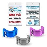 clip antiappanante occhiali per mascherina anatomico in gomma anallergica sterilizzabile utilizzabile su tutte le mascherine ed occhiali ponte nasale anti-appannamento dr foggy made in italy