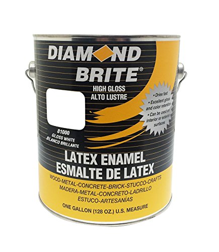 Diamond Brite Paint 80000 1-Gallon Latex Gloss Enamel, White