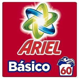 Ariel Básico Detergente En Polvo, Calidad A Un Precio Asequible – 60Lavados