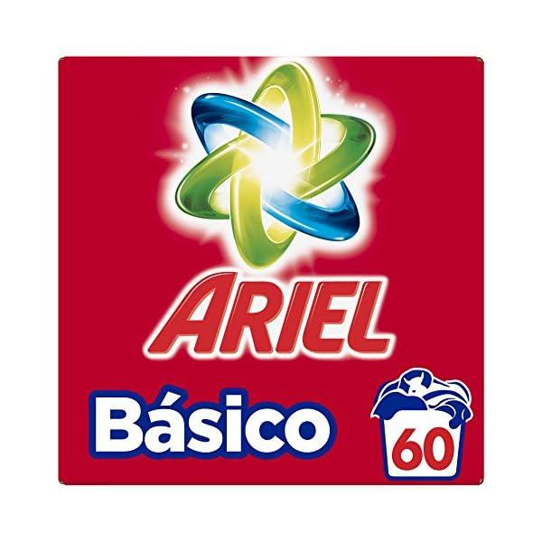Ariel Detergente en Polvo para Lavadora, Básico, 60 Lavados