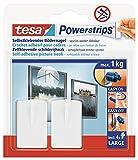 tesa Powerstrips 58031-00020-00 - Gancho para colgar cuadros (2 unidades, 4 tiras)