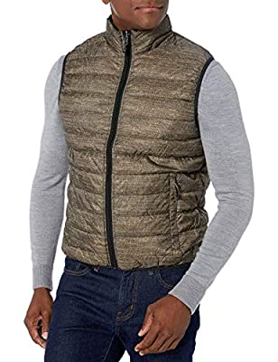 Hawke & Co Men's 2-in-1 Reversible Packable Rain and Wind Resistant Casual Outdoor Vest, Nye Black, X-Large from Hawke & Co