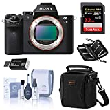 Sony Alpha a7 II Mirrorless Digital Camera (Body Only), Bundle Includes Bag, 32GB SD Card and Accessories